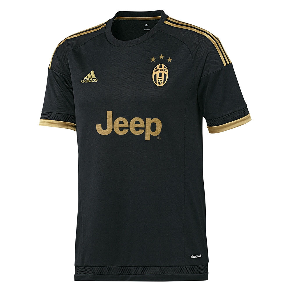 black and gold juventus jersey