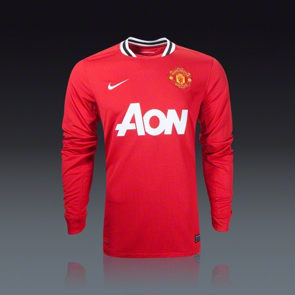 manchester united long sleeve jersey